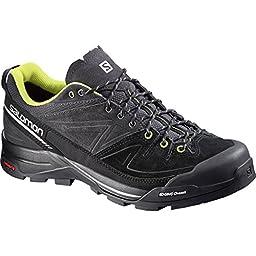 Salomon X-ALP LTR Shoe - Men\'s Asphalt / Black / Gecko Green 10.5