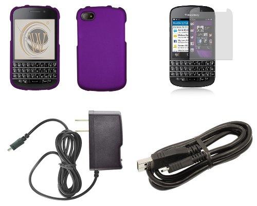 blackberry q10 premium accessory kit dark purple hard cover case atom l. Black Bedroom Furniture Sets. Home Design Ideas