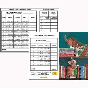 What Now Bridge Tallies (12 Pack) 2 & 3 Table Progessive