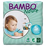 Abena Bambo Nature Premium Baby Diapers, Junior, Size 5, 27 Count (Pack Of 6)