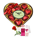 Valentine Chocholik's Luxury Chocolates - Sweet Carnations Of Wrapped Chocolates With Love Card And Rose