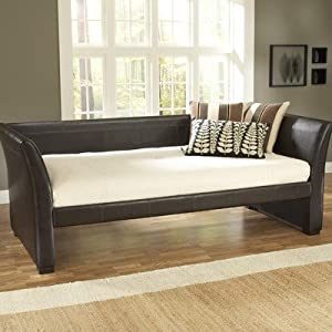 Hillsdale 1519 Series Malibu Leather Daybed in Brown