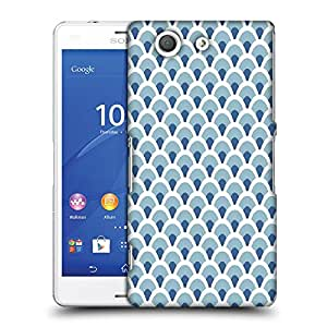 Snoogg Abstract White Blue Pattern 1 Designer Protective Phone Back Case Cover For SONY XPERIA Z3 COMPACT
