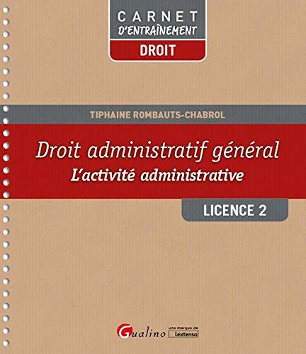 Droit administratif L2 S1 : Carnet d'entraînement