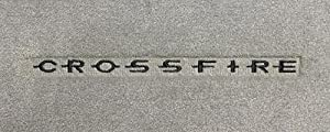 Logo 2004-2004 Chrysler Crossfire Mid-level Custom Small Deck Mat Mid-Level Cruiser Mat Color: Lt Oak Mat Logo: Crossfire Letters Embroidery - Black