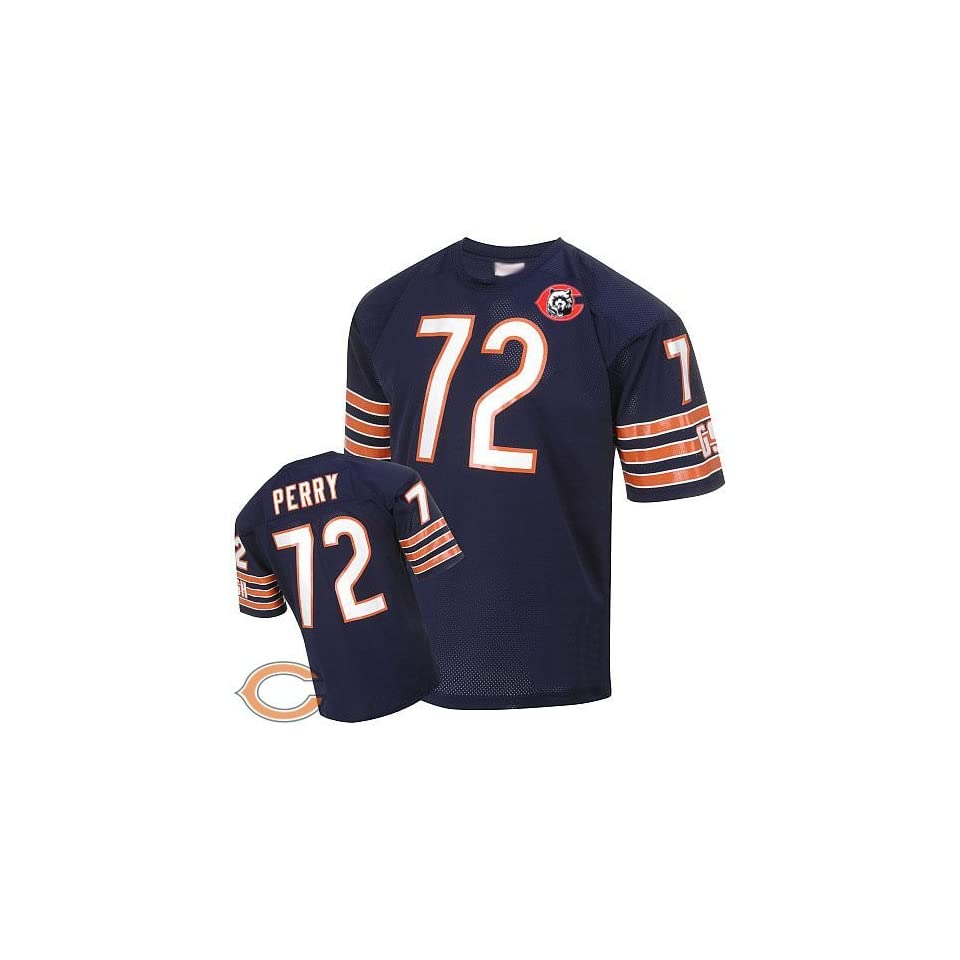 finest selection 74d43 60f78 Chicago Bears #72 William Perry Blue Jersey Throwback Nfl on ...