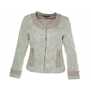 Ellen Tracy Women Pink Tweed Jacket (8, Pink Chalk Combo)