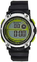 Sonata Digital Black Dial Mens Watch - 77005PP01J