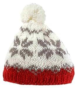 prosport Uni Handstrickmütze, weiß/rot grau, One Size, 3509
