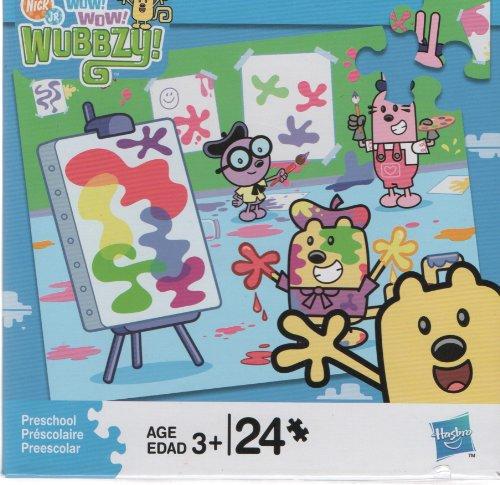 Cheap Hasbro Wow Wow Wubbzy Artist 24 Piece Puzzle (B004FD39IS)