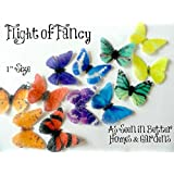 """24 Decorative Wafer Paper Butterflies© Mini, Very Small 1"""" Edible Butterflies Decorations Butterfly Image Cake Toppers"""