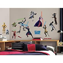[Best price] Kids&#039 - RoomMates RMK1382SCS Star Wars: The Clone Wars Glow in the Dark Wall Decals - toys-games