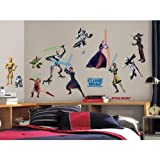 51sLrBiqn7L. SL160  RoomMates Star Wars: the Clone Wars Glow in the Dark Wall Decals RMK1382SCS