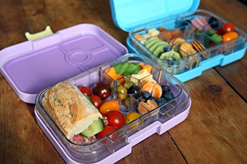 yumbox panino lavande purple leakproof bento lunch box container for kids a. Black Bedroom Furniture Sets. Home Design Ideas