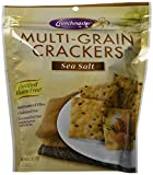 Crunchmaster Multi-Grain Crackers, Sea Salt, 4.5 Ounce (Pack of 6)