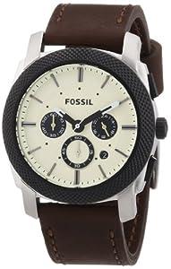 Fossil Herren-Armbanduhr XL Chronograph Quarz Leder FS4732