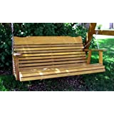 4' Cedar Porch Swing, Amish Crafted - Includes Chain & Springs