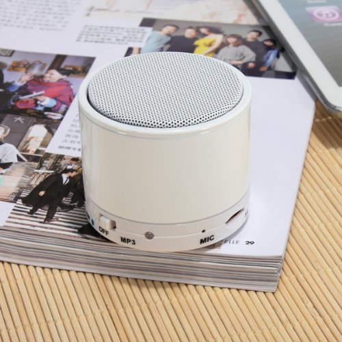 Mini Beatbox Bluetooth Stereo Speaker For Iphone Smartphone Device Color White