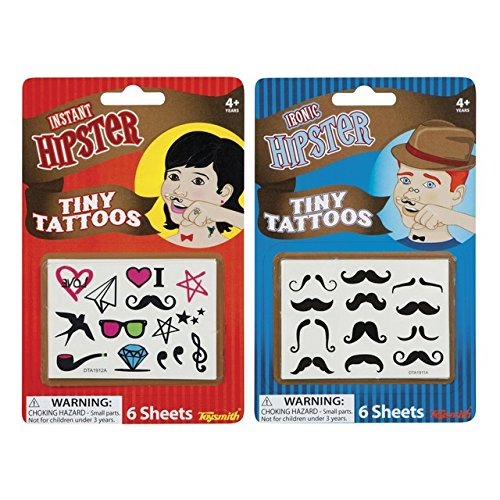 Toysmith Hipster Tiny Tattoos - 1