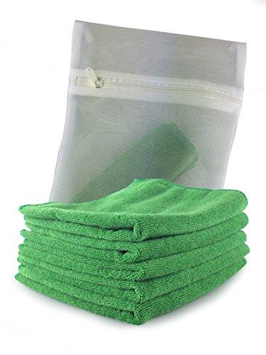 prodotti-viridis-confezione-da-5-panni-in-microfibra-per-esterni-verde-con-mesh-wash-bag-tessuto-sen