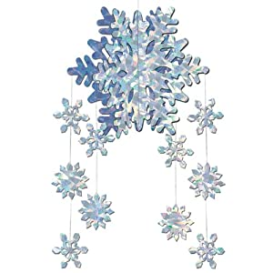3-D Snowflake Mobile Party Accessory (1 count) (1/Pkg)