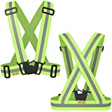 The Tuvizo Reflective Vest provides High Visibility day & night for Running, Cycling, Walking etc. This easily adjustable, lightweight, elastic Reflective Belt Vest/Reflective Running Vest/Cycling Vest/Safety Vest gives a versatile comfortable fit over sports gear or outdoor clothing.