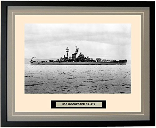 Navy Emporium - USS Rochester CA-124 - Framed - Photo - Engraved Ship Name - Double Mat - Photograph - 16 X 20 - 9CA124 торшер leds c4 emporium 25 1858 i1 55