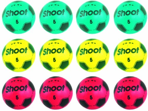 Shoot Size 5 inflated Plastic Footballs - 12