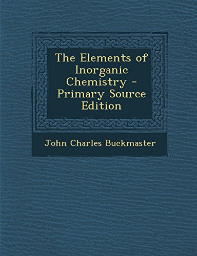 The Elements of Inorganic Chemistry