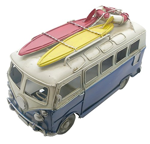 Camper Van with Surfboards (25cm x 10.5cm x 15cm) by Giftworks (Blue)