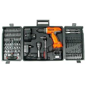 Stalwart 75-66007 78-Pc 18 Volt Cordless Drill Set