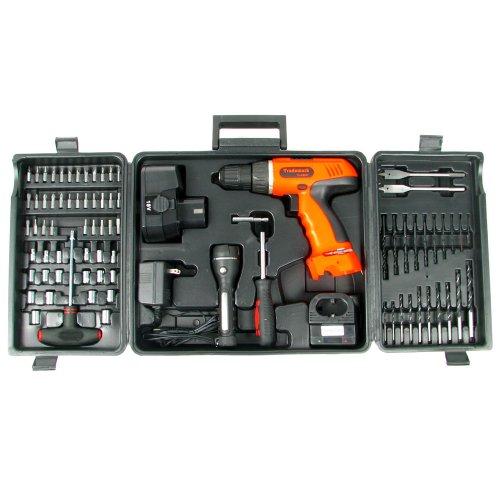 Stalwart 75-66007 78-Piece 18-Volt Cordless Drill Set