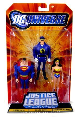 Buy Low Price Mattel DC Universe Justice League Unlimited BlackHawk Superman Wonder Woman Figure (B0028IYGGQ)