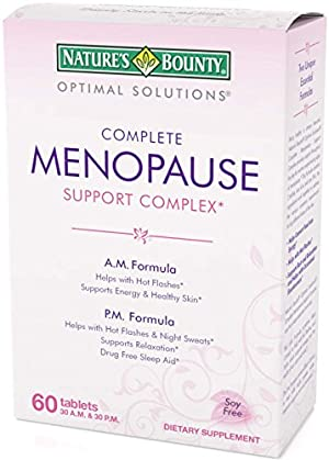 Nature's Bounty Optimal Solutions Menopause Support, 60 Tablets