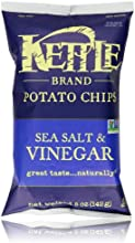 Kettle Brand Potato Chips, Sea Salt & Vinegar, 5-Ounce Bag
