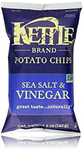 Kettle Brand Natural Gourmet Potato Chips, Sea Salt And Vinegar, 5 Oz