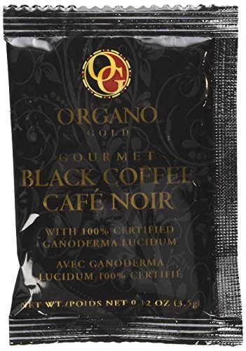 Organo Gold Gourmet Cafe Noir, Black Coffee (1 Box of 30 Sachets) (Coffee Black Tea compare prices)