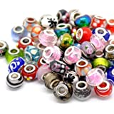 Ten Assorted Colored Murano Glass Bead Charms