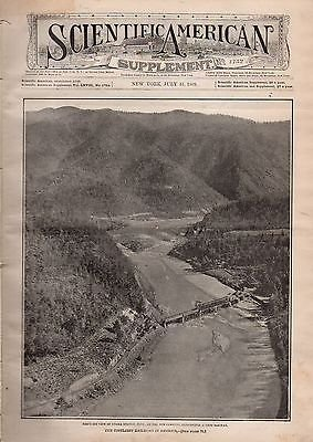 1909 Scientific American Supp July 31-Unaka Springs Tn: Blau Gas; Pantograph;