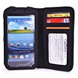 Cooper Cases(TM) Infinite Wallet Samsung Galaxy Nexus (I9250/I9250M/i515/LTE L700) Case in Black (Pleather Cover, Built-in Screen Protector, Card Slots, ID Holder, Billfold)