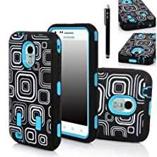 buy Galaxy S2 Case, E Lv Galaxy S2 Epic 4G Touch D710 Ccase - Shock-Absorption / High Impact Resistant Hybrid Dual Layer Armor Defender Full Body Protective Case Cover (Hard Plastic With Soft Silicon) For Samsung Galaxy S2 Epic 4G Touch D710 (Sprint, Us Cellu
