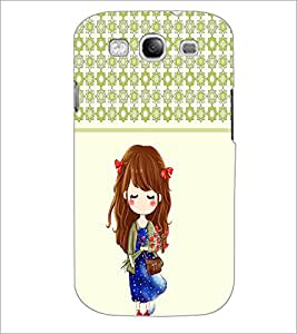 PrintDhaba Cute Doll D-5838 Back Case Cover for SAMSUNG GALAXY S3 (Multi-Coloured)