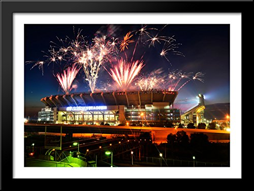 firstenergy-stadium-38x28-large-black-wood-framed-print-art-home-of-the-cleveland-browns