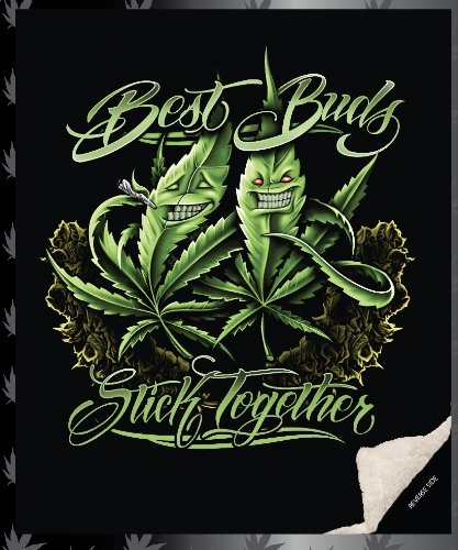 """Best Buds """"Stick Together"""" Double Sided Sherpa Queen Blanket front-751746"""