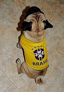 W Dog Brasil Dog Soccer Jersey Brasil