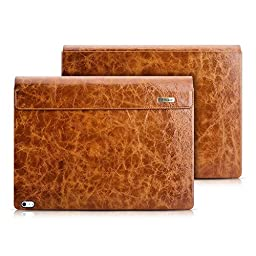 Surface Book Case, Icarercase Vintage Series Genuine Leather Detachable Folio Cover for Microsoft Surface Book 13.5 Inch