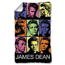 James Dean Color Block Fleece Blanket