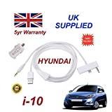 Hyundai i-10 iphone 6 PLUS connectivity audio 3.5mm Aux & USB Cable with USB Power Adapter