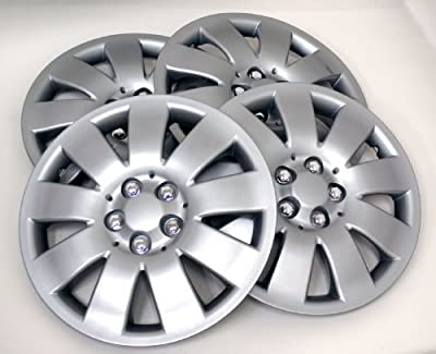TuningPros Style# 721 Hubcaps Wheel Skin Cover Silver Set of 4