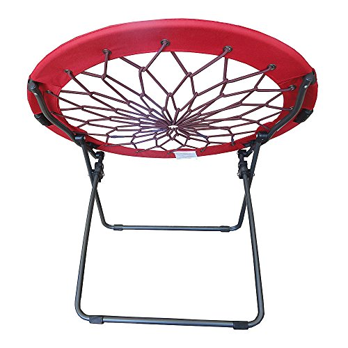 Round bungee chair red folding comfortable lightweight for Bunjo chair